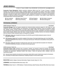 resume examples project engineer project engineer sample resume career faqs contractor project successful project management pinterest resume examples