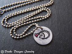 Small hedgehog necklace hedgehog jewelry