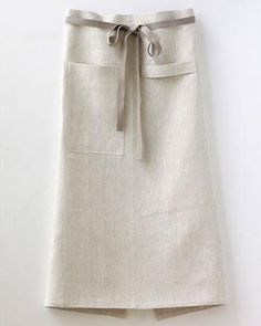 Cafe Apron in Oatmeal Linen