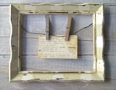 rustic farmhouse decor | Farmhouse Kitchen Decor // Rustic Cottage Frame // Primitive Recipe ...