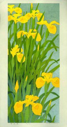 Authentic contemporary Japanese woodblock print by Masahiko Honjo