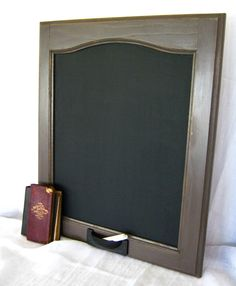 Shabby Chic Distressed Chalkboard in London Gray Wall by BBlaeser, $50.00