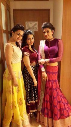 Kajal Aggarwal & Nisha Aggarwal luvd both dresses...