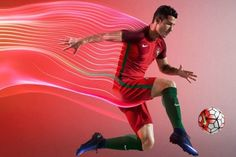 The new Portugal Euro 2016 Home Kit combines two shades of red with green elements, creating a ultra-stunning design. Portugal Soccer, Portugal Euro 2016, Football Calendar, Web Sport, World Soccer Shop, Soccer Fans, Soccer Jerseys, We Are The Champions, Iceland