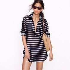 Stripe tunic for the beach, or pair with white skinny cropped jeans.