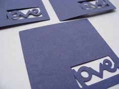 100 'love' Tags Dark Blue Cobalt Blue 3 Inch by TreeTownPaper, $30.00