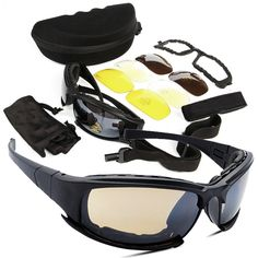 b7ac286dbeb check price tactical d a i s y x7 glasses military goggles army sunglasses  with 4 lens original box men
