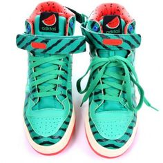 Adidas watermelon sneakers