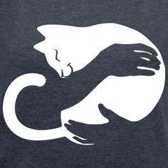 CatHug & Frauen T-Shirt mit gerollten Ärmeln & Frauen T-Shirt mit gerollten Ärmeln CatHug & Women& Roll-On T-Shirt & Women& T-shirt with rolled-up sleeves The post CatHug & Women& T-Shirt with Rolled Sleeves Tattoo Silhouette, Cat Silhouette, Cat Hug, Cat Quilt, Crazy Cat Lady, Crazy Cats, Cat Drawing, Cat Design, T Shirt Diy
