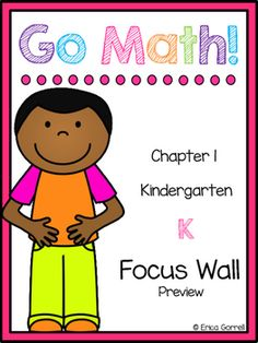 I have finally finished my Kindergarten Go Math! Focus Wall for Chapter 1!  This…