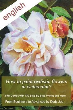 """Pink Rose in oil and a WIP of the Rose """"Elfe"""" (Fairy Rose) - Paintings in oil and watercolor - Watercolor DVDs and Free Tutorials"""