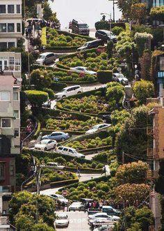 lombard street. san francisco, california.