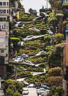 lombard street. san francisco, california.