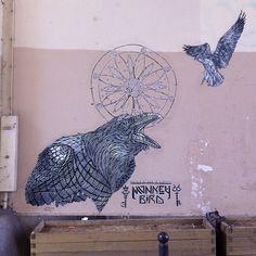 #streetart #paris #monkeybird