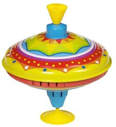 Goki - Yellow Spinning Top  I love this top, reminds me of my own childhood. A must have for all baby's!! #Entropywishlist #pintowin