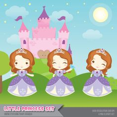 Princess Sofia Inspired Clipart Instant Download PNG por araqua