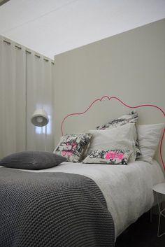 pink neon in bedroom