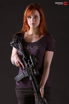 Ethereal Rose with a TNVC shirt and QD PVS-14 mount, Aimpoint T-1, and Fortis F1…