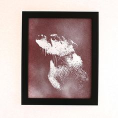River Otter Art Print, Wildlife Wall Art, Hand Printed Art, Screen Print Wall Art, Home Decor