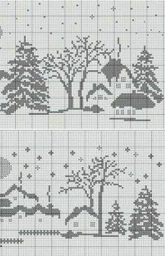 Xmas Cross Stitch, Cross Stitch Alphabet, Cross Stitch Charts, Cross Stitch Designs, Cross Stitching, Cross Stitch Embroidery, Cross Stitch Patterns, Knitting Charts, Knitting Stitches