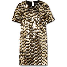 Rachel Zoe Elsa sequined cotton-jersey mini dress found on Polyvore featuring dresses, keyhole dress, short brown dress, keyhole mini dress, sequin embellished dress and glamorous dresses