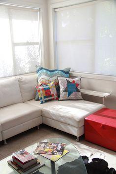 cute patchwork pillows