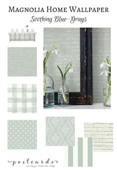 Gorgeous new wallpaper collection from Joanna Gaines. Love these colors!