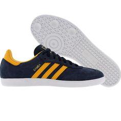 Adidas Samba (col navy / col gold / white) G51496 - $64.99 Adidas Originals Dragon, Adidas Samba, Christmas Ideas, Adidas Sneakers, Kicks, Walking, Stripes, Navy, Gold