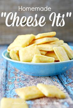 Homemade Cheese It Crackers. You have to make these....SO good!