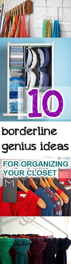 10 Borderline Genius Ideas for Organizing Your Closet (1)