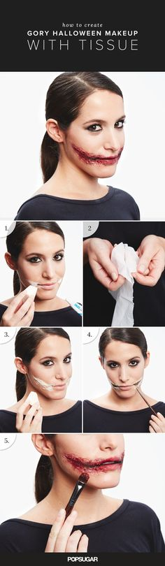 Slashed jowls is sure to be a hit at any costume party thanks to Jared Leto's role as the Joker in Suicide Squad. To re-create the look at home, gather up toilet tissue and your favorite Duo Lash Glue ($10). Apply the falsie adhesive to the area where you want your cut using a sponge. Now YOU Can Create Mind-Blowing Artistic Images With Top Secret Photography Tutorials With Step-By-Step Instructions!