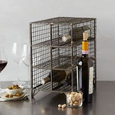 West Elm Might fit with our brick wine rack Wire Wine Rack - Small