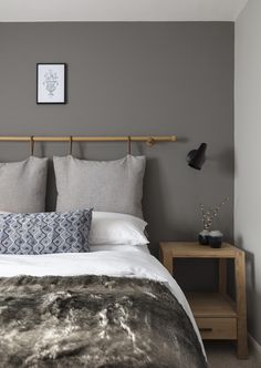 Nathalie Priem Photography  Scandi-contemporary bedroom design. Designed by Shanade McAllister-Fisher interior design studio