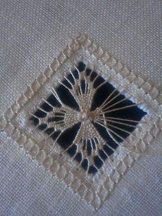 (via Twila Hinzy, Hardanger embroidery) Types Of Embroidery, Learn Embroidery, Hand Embroidery Stitches, Embroidery Techniques, Embroidery Art, Embroidery Patterns, Bordado Popular, Broderie Bargello, Teneriffe