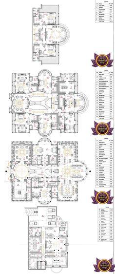 Luxurious House Plan in UAE - Luxery Houses House Plans Mansion, New House Plans, Country House Plans, Dream House Plans, Modern House Plans, House Floor Plans, Architecture Blueprints, House Blueprints, Architecture Plan
