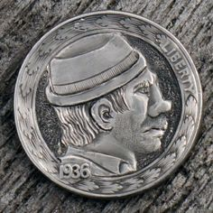 Micky 'the Matador' Muldoon, buffalo hobo nickel by Marcus Hunt Hobo Nickel, Antique Coins, Jewelry Collection, Buffalo, Classic Style, Carving, Antiques, Art, Drawings