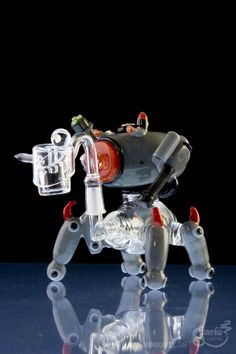 Empire Glassworks Red War Mech Rig - Smoke Cartel | Online Headshop