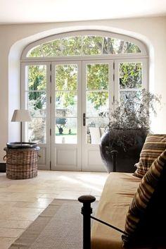 Wooden Front Door Design, Wooden Front Doors, House Front Design, Exterior Design, Interior And Exterior, Barn Renovation, Patio Doors, House Goals, Bay Window
