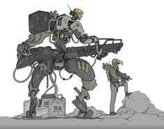 Apologize for those who had seen this stuff here and there. But here's my mech design (nomansnodead.deviantart.com/ar…) for miniature war games called Immortal Kings that come to live. I am ...