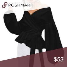 Women's Black Chiffon Blouse Black Chiffon Long Sleeve Blouse Tops Blouses