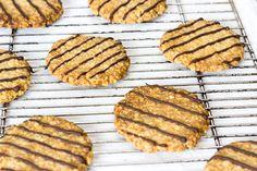Galletas de avena veganas Sin Gluten, Vegan Recipes, Vegan Food, Pancakes, Veggies, Cookies, Breakfast, Desserts, Almond Butter