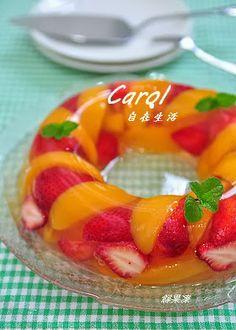 Carol 自在生活 : 草莓蜜桃凍