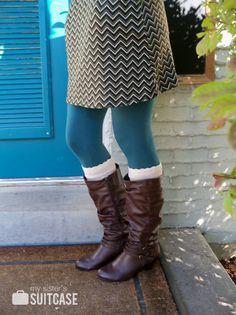 DIY boot socks on Infarrantly Creative.  Simple but oh so cute!