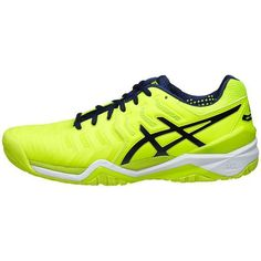d5bde1ab2 Asics Gel Resolution 7 Safety Yellow Indigo Blue White Men s Shoes