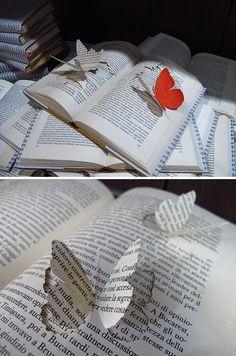Book paper art / crafts