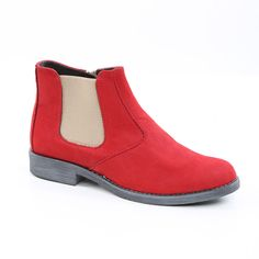 49Ghete Scurte Rosii Vagam003 Chelsea Boots, Ankle, Shoes, Fashion, Moda, Zapatos, Wall Plug, Shoes Outlet