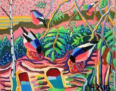Buy Original Artwork at Artwork Only - Red birds. by Paavo Stenius