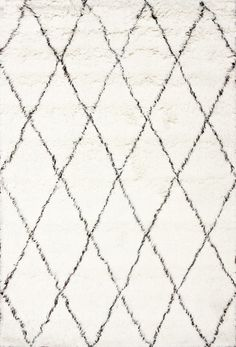 nuLOOM Moderna Ivory Moroccan Shag Area Rug | AllModern