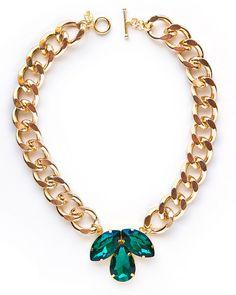 Emerald Fleur De Lis Necklace - JewelMint
