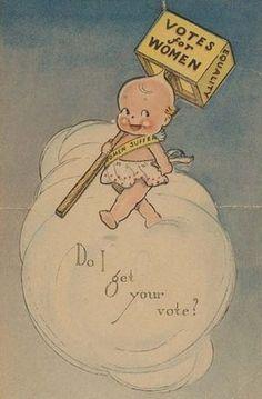 Votes for women...vintage '20s suffragette card.